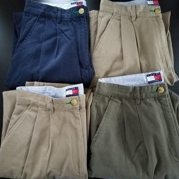 9dd6f6de27a0 4 pair VINTAGE TOMMY HILFIGER 90 s Chino Pants. M 5b947882951996fed7b7f011